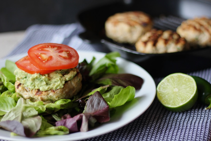 Jalapeno Lime Chicken Burgers