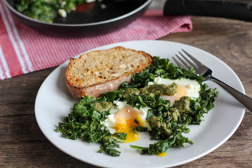 Kale & Eggs Breakfast Skillet