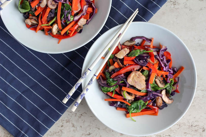Rainbow Chicken Stir-Fry
