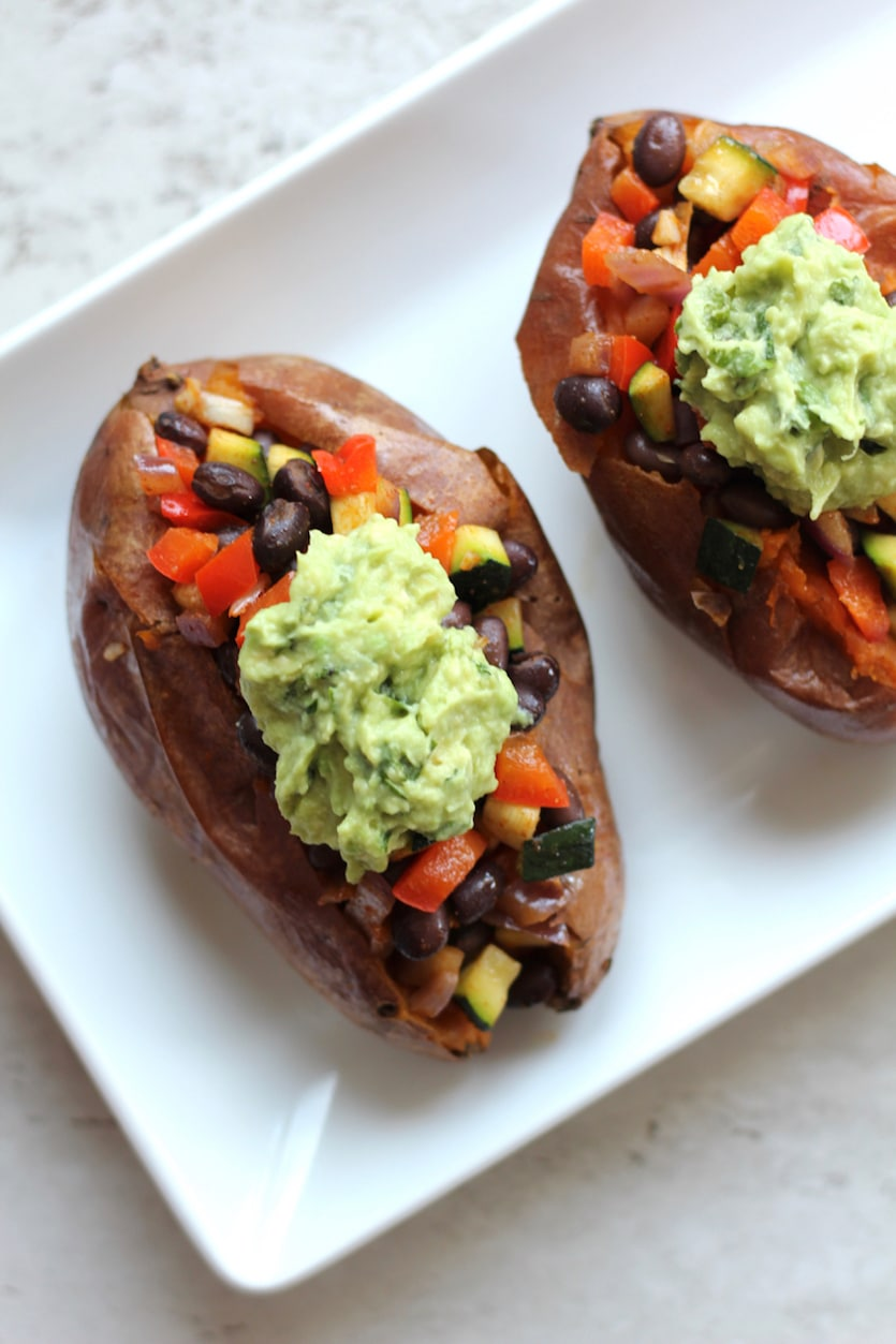 Black Bean Stuffed Sweet Potatoes