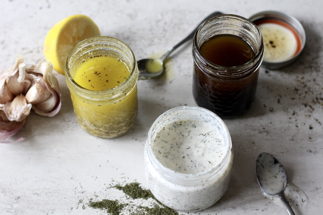 3 Simple Salad Dressings (that are easy to make!)