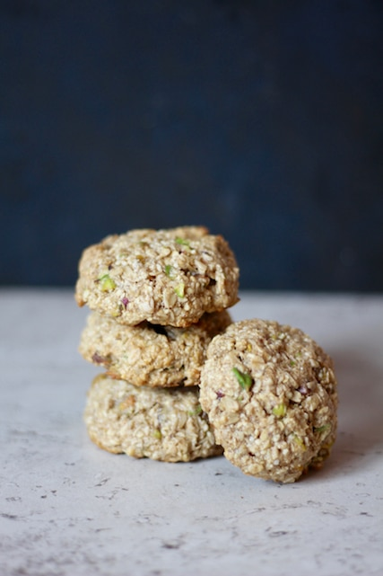 Apricot Pistachio Oatmeal Cookies