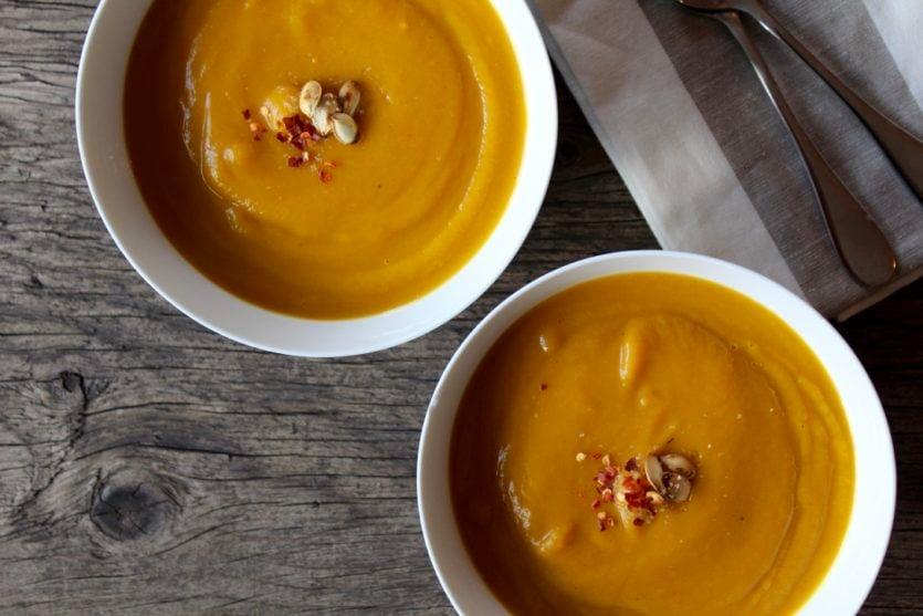 spiced pumpkin soup