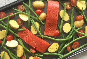 tray bake salmon