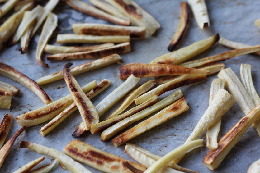 Oven-Baked Parsnip Fries