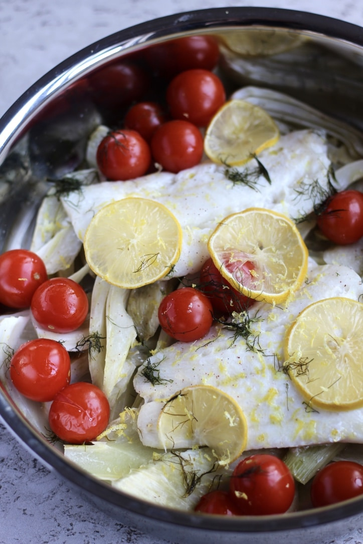 Baked Cod with Fennel & Lemon