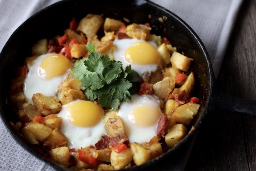 Spicy Potato & Egg Hash