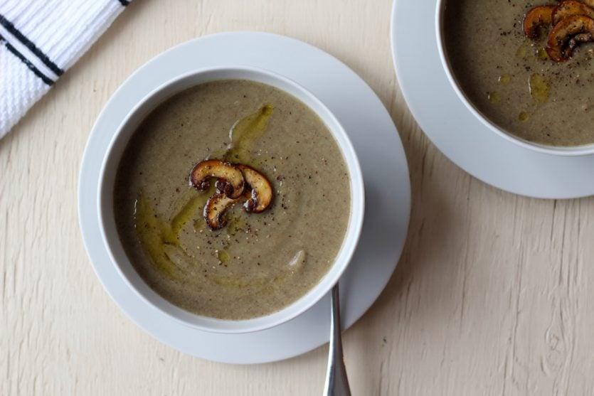 Mushroom, Potato & Leek Soup