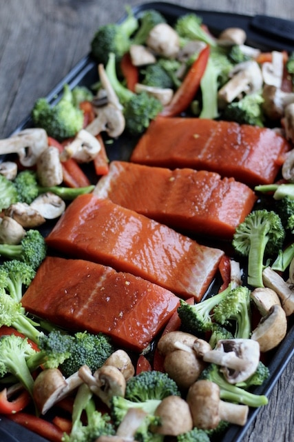 Asian Salmon Tray Bake