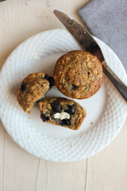 Blueberry Oatmeal & Maple Muffins