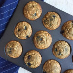 Blueberry, Oatmeal & Maple Muffins