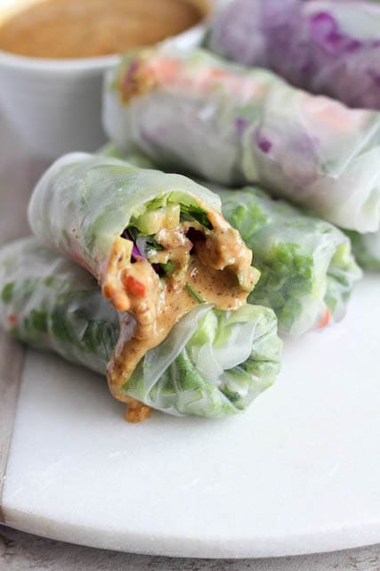 Summer Rolls with Almond Dipping Sauce