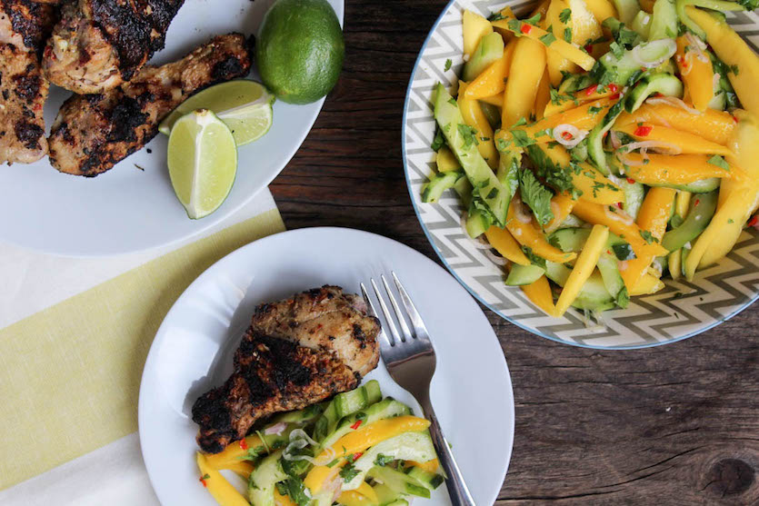 Mango and Cucumber Salad