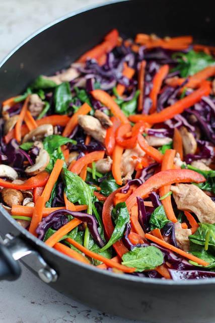 Rainbow Chicken Stir-Fry