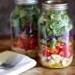 Sesame Chicken Mason Jar Salad