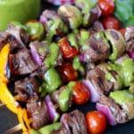 Steak Kabobs with Cilantro Sauce