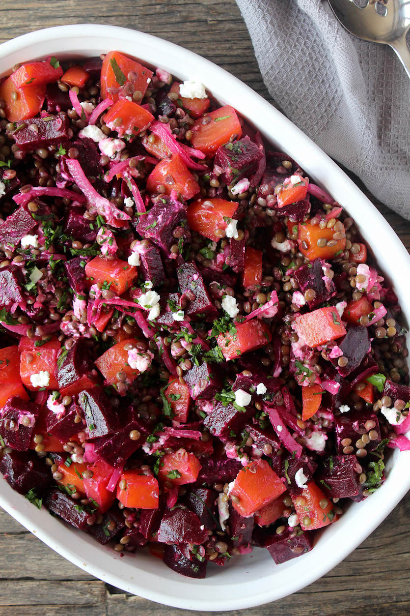 French Lentil & Beet Salad