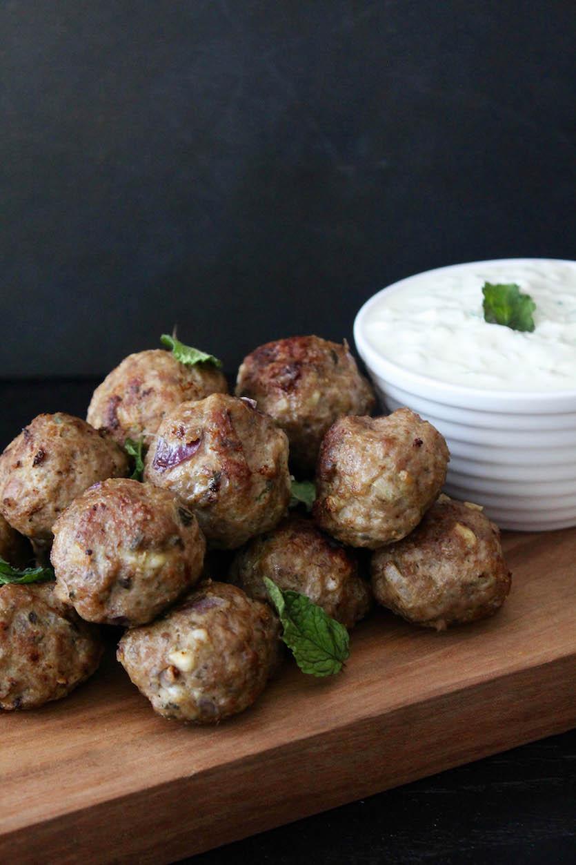 Greek Lamb Meatballs with Tzatziki