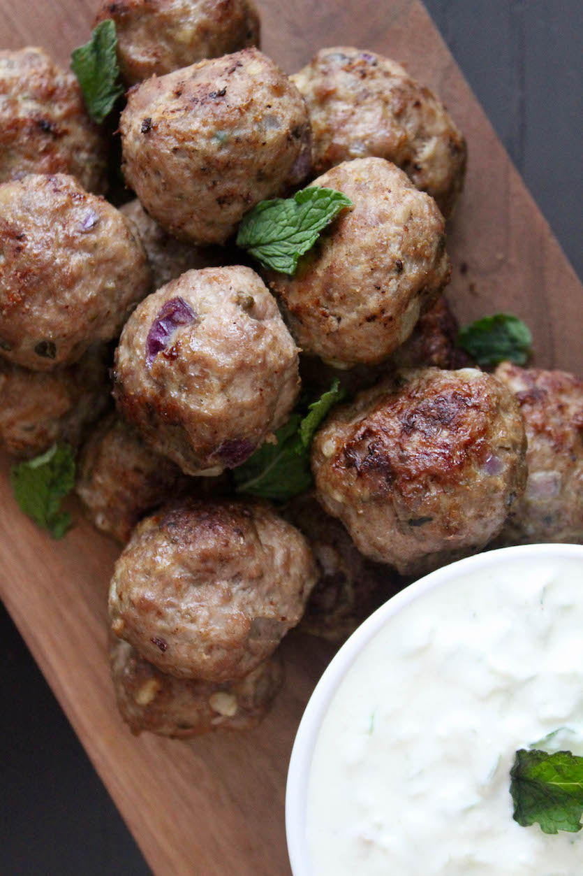 Greek Lamb Meatballs with Tzatziki