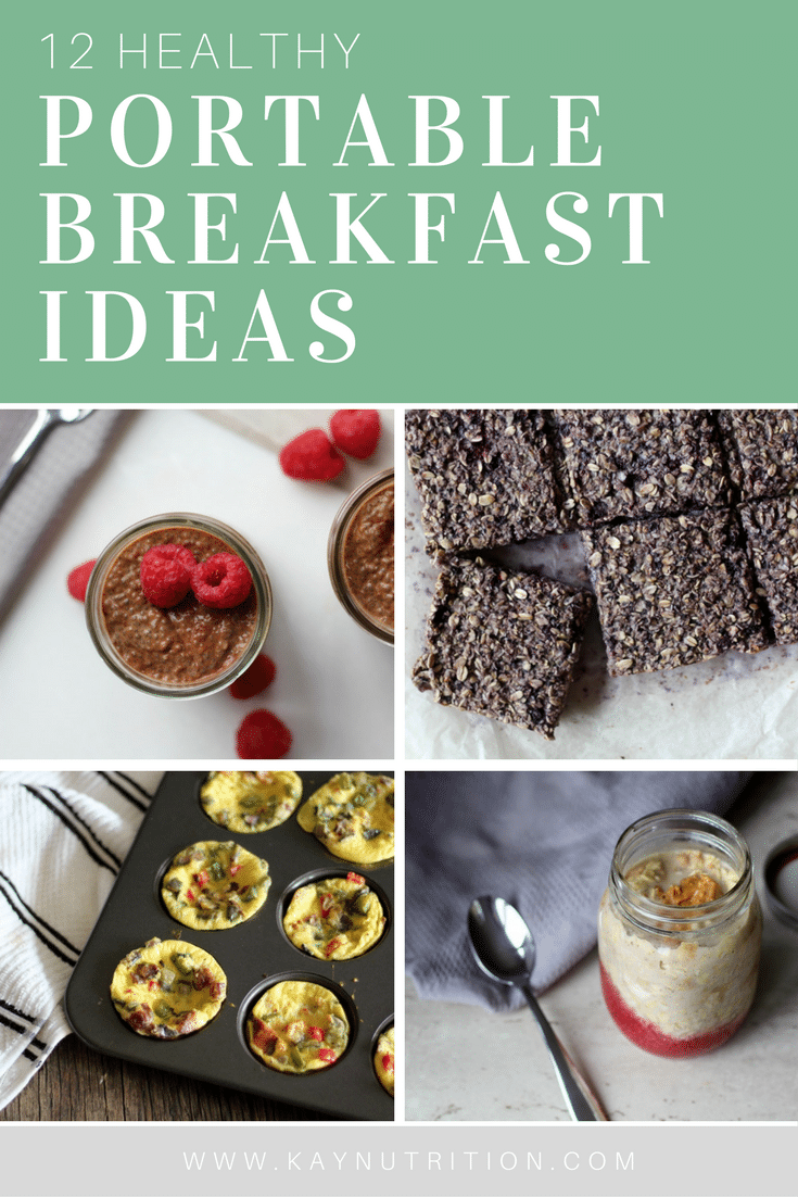12 Healthy Portable Breakfast Ideas