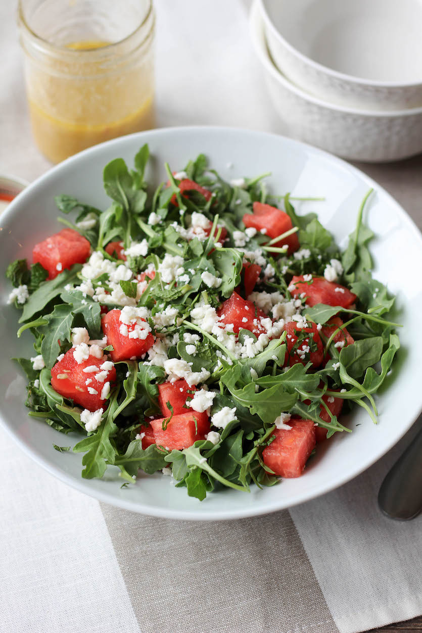 Arugula, Watermelon and Feta Salad - Stephanie Kay ...