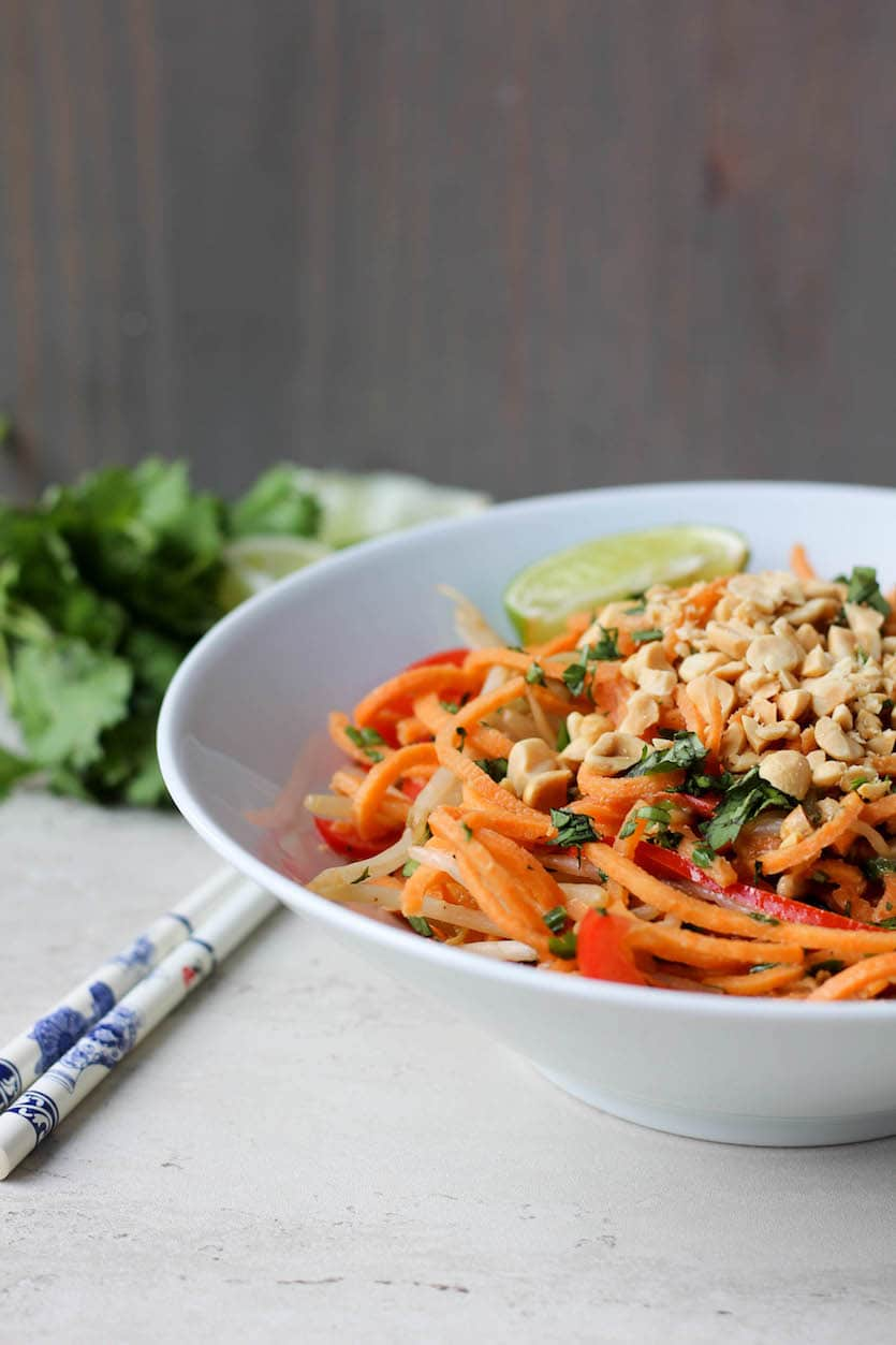 Sweet Potato Peanut Pad Thai