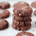 Salted Dark Chocolate Cookies