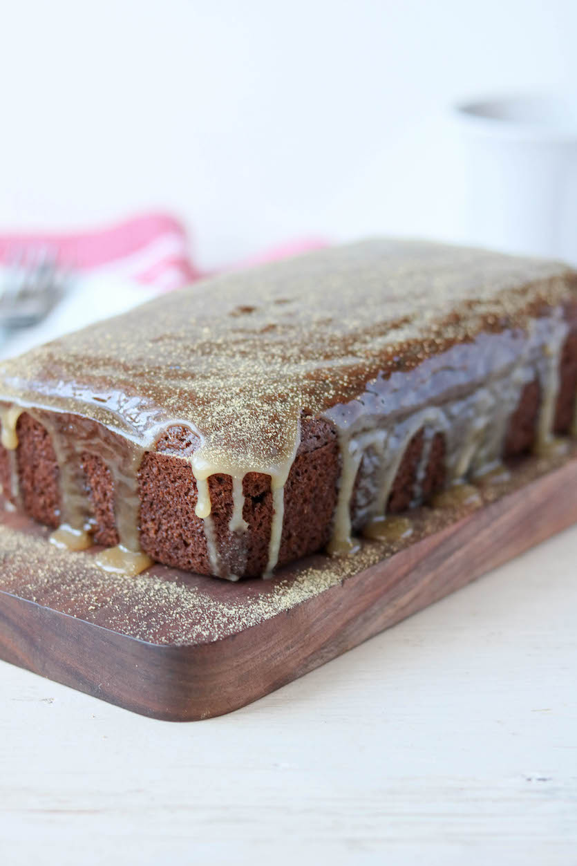 Gingerbread Loaf with Maple Glaze
