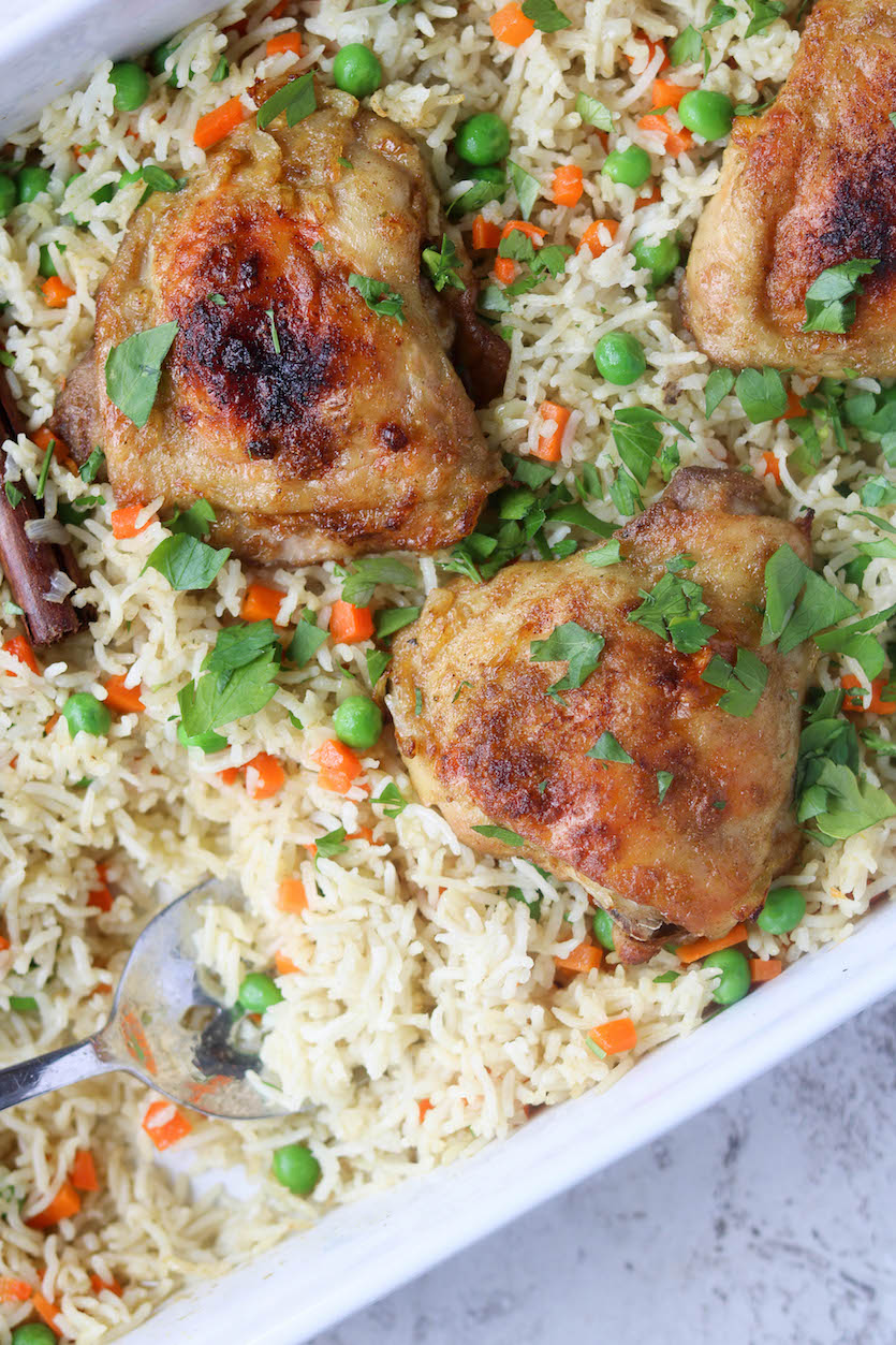 Oven-Baked Chicken and Rice Pilaf