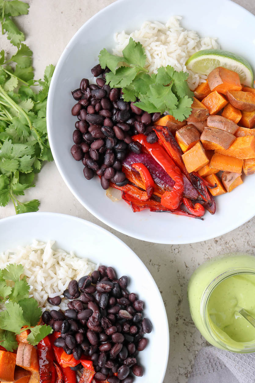 Sweet Potato Burrito Bowls