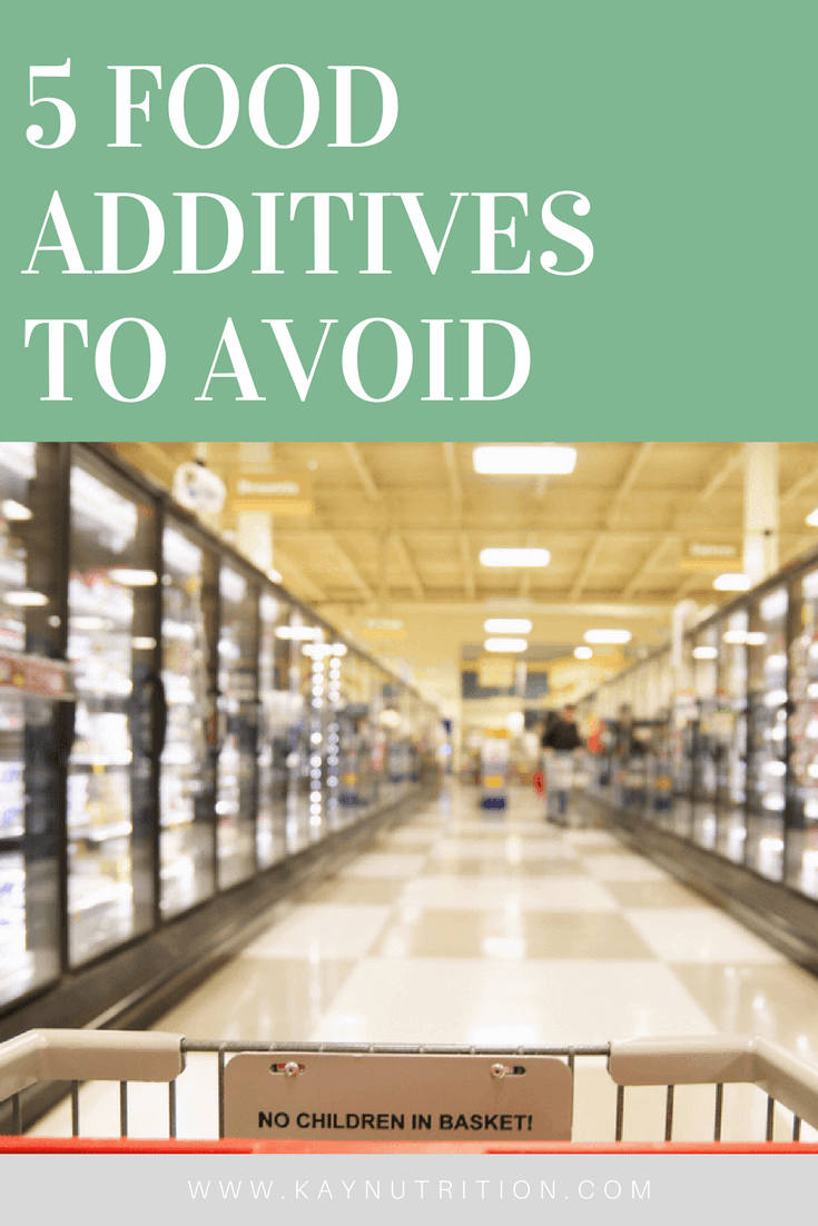 5 Food Additives to Avoid