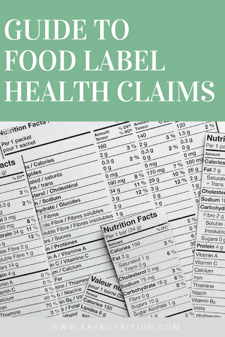 Guide to Food Label Health Claims