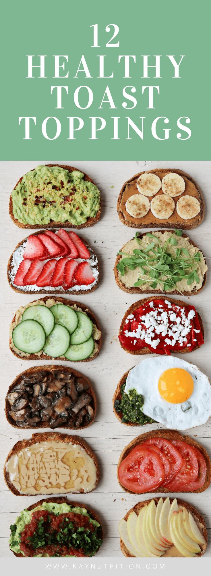 12 Healthy Toast Toppings