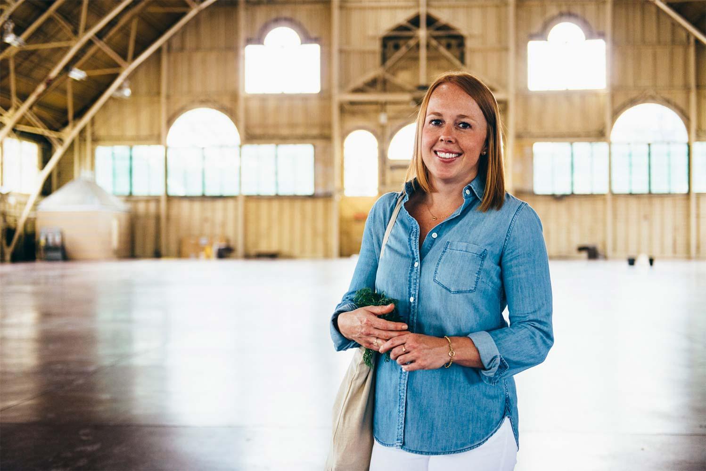 Stephanie Kay posing in the Aberdeen Pavillion in Ottawa
