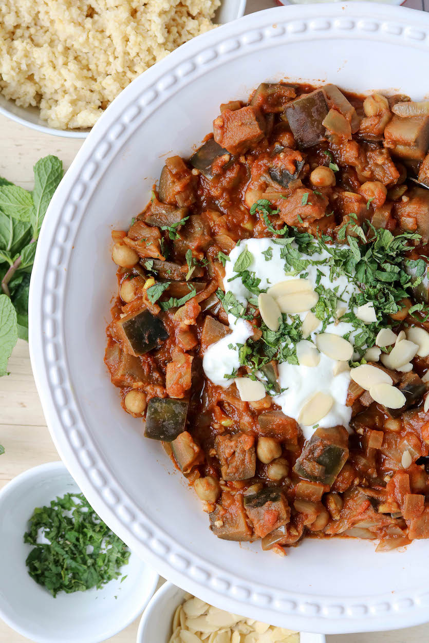 Eggplant and Chickpea Tagine