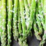 Lemon Garlic Roasted Asparagus