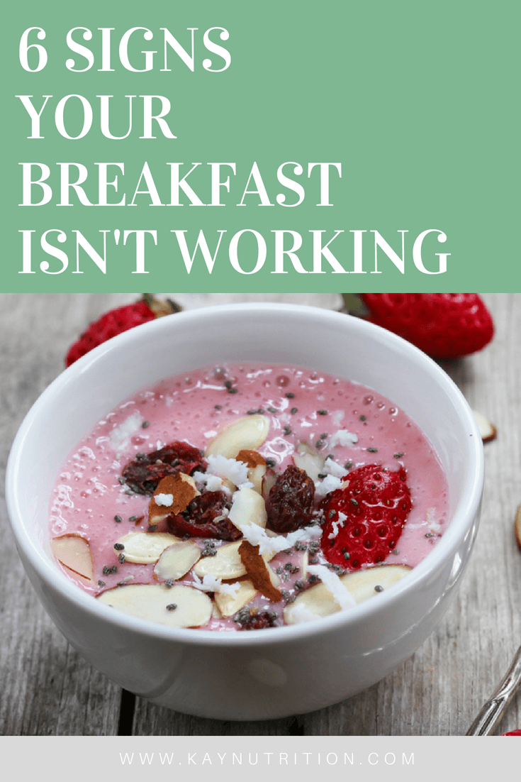 6 Signs Your Breakfast Isn't Working