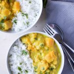 Yellow Squash and Chickpea Curry