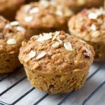 Healthy Carrot Muffins with Oats and Pecans