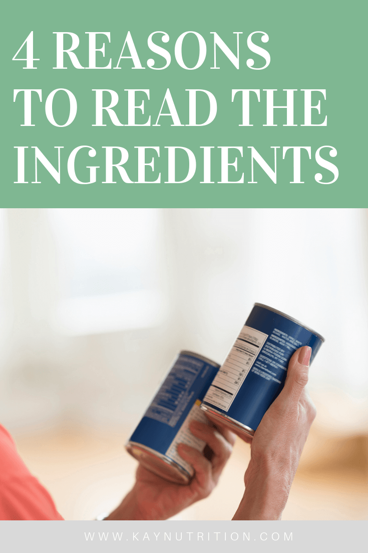 4 Reasons to Always Read the Ingredients