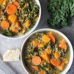 Roasted Vegetable & Lentil Soup