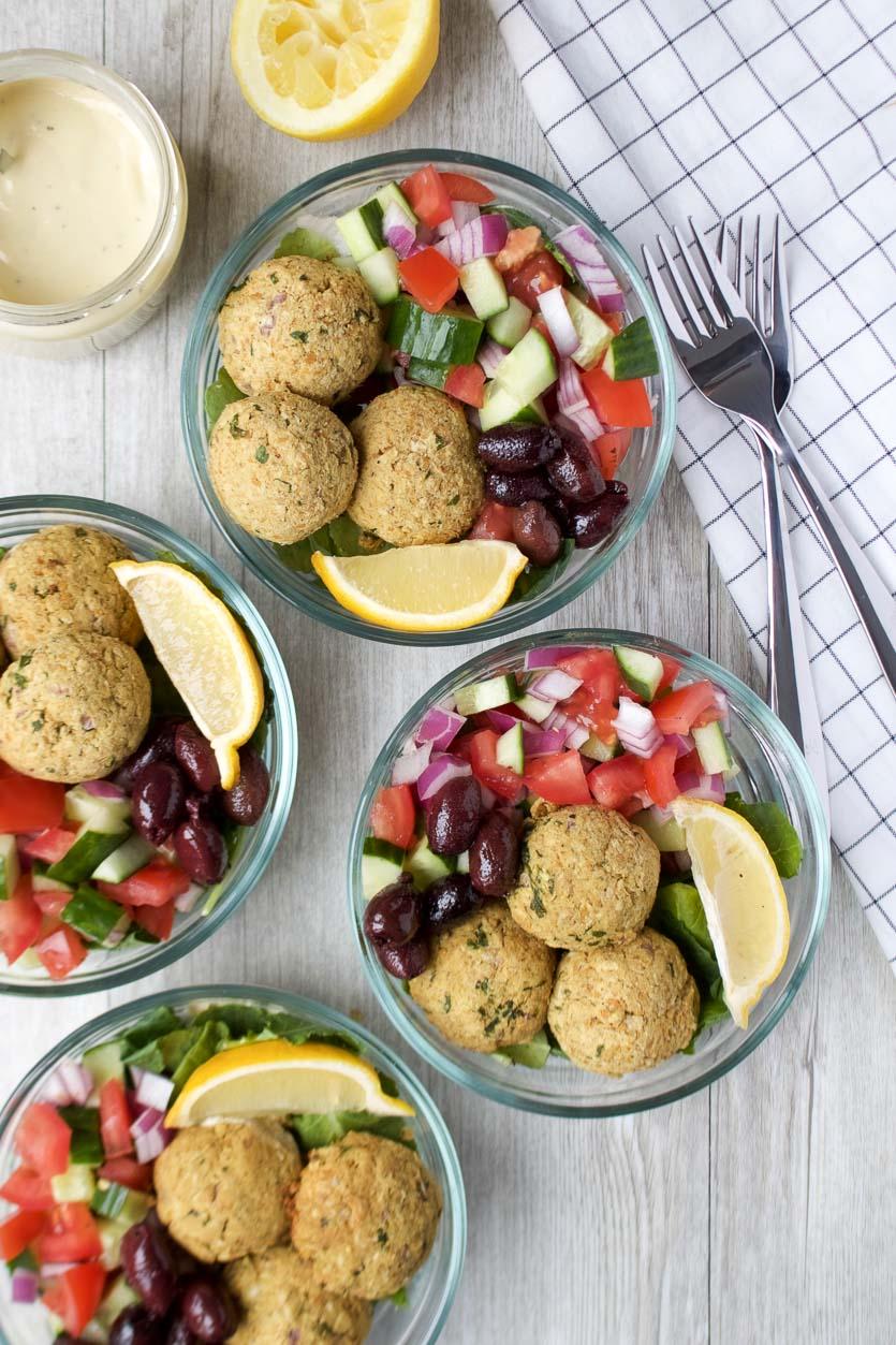 Oven-Baked Falafel Bowls