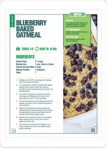 Blueberry Baked Oatmeal Recipe - 5-Ingredient Recipes Cookbook