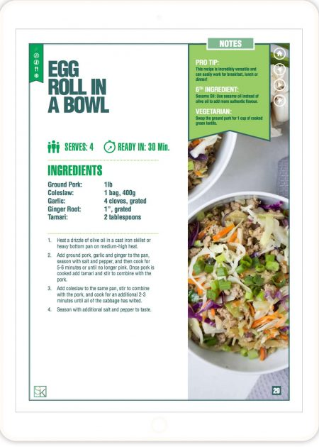Egg Roll in a Bowl - 5-Ingredient Recipes Cookbook