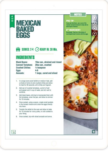 Mexican Baked Eggs - 5-Ingredient Recipes Cookbook