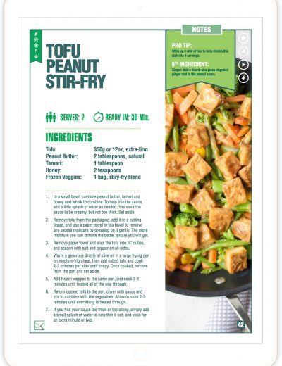 Tofu Peanut Stir Fry Recipe