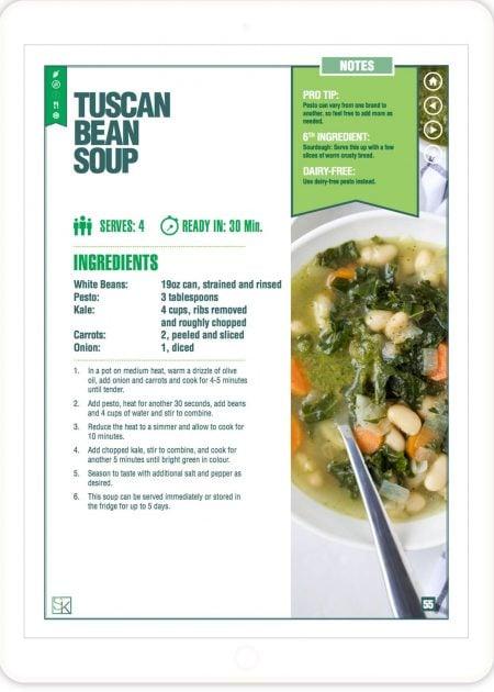 Tuscan Bean Soup - 5-Ingredient Recipes Cookbook
