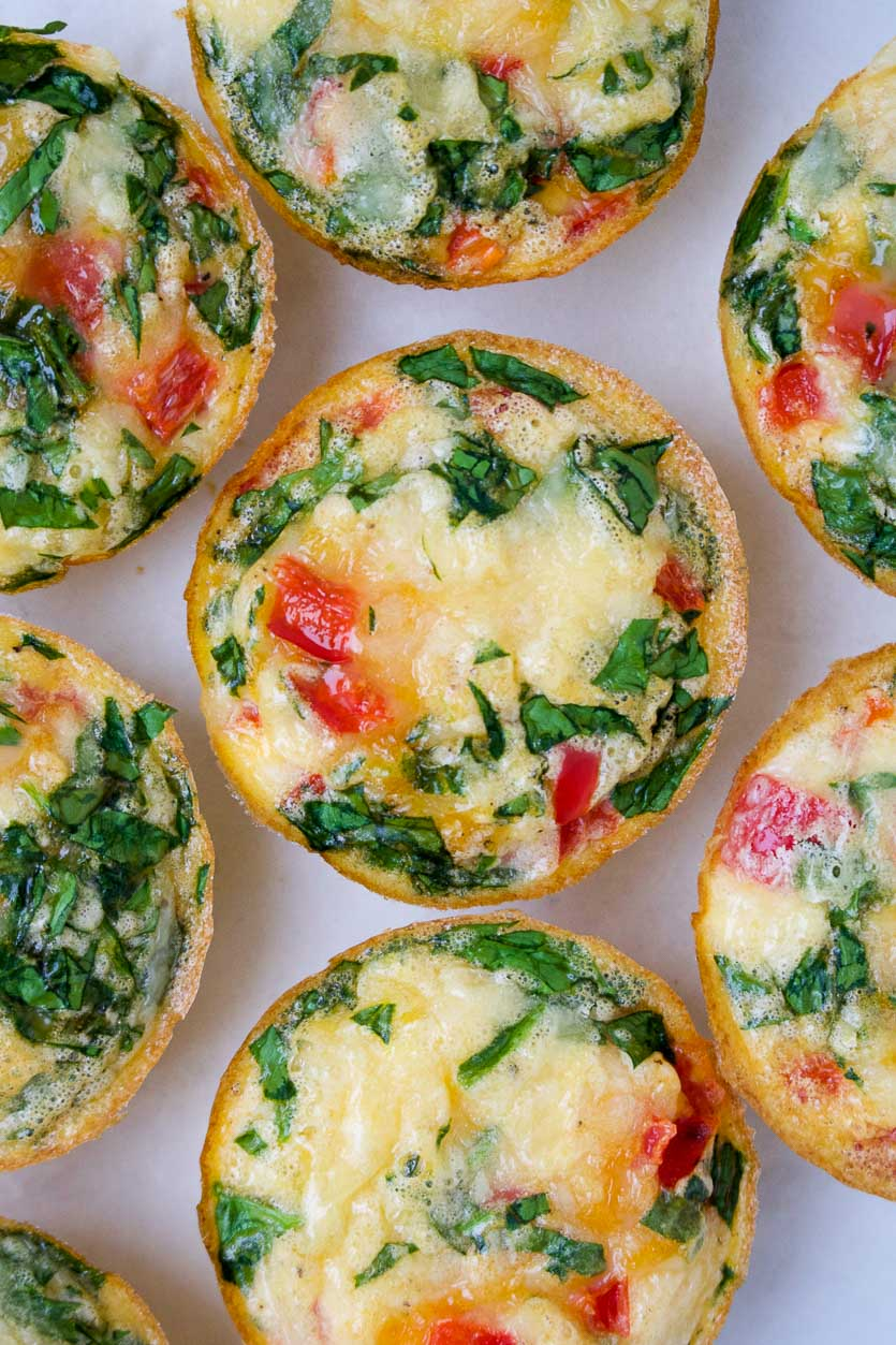 Red Pepper & Spinach Egg Muffins