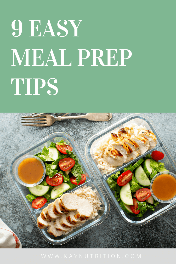 9 Easy Meal Prep Tips