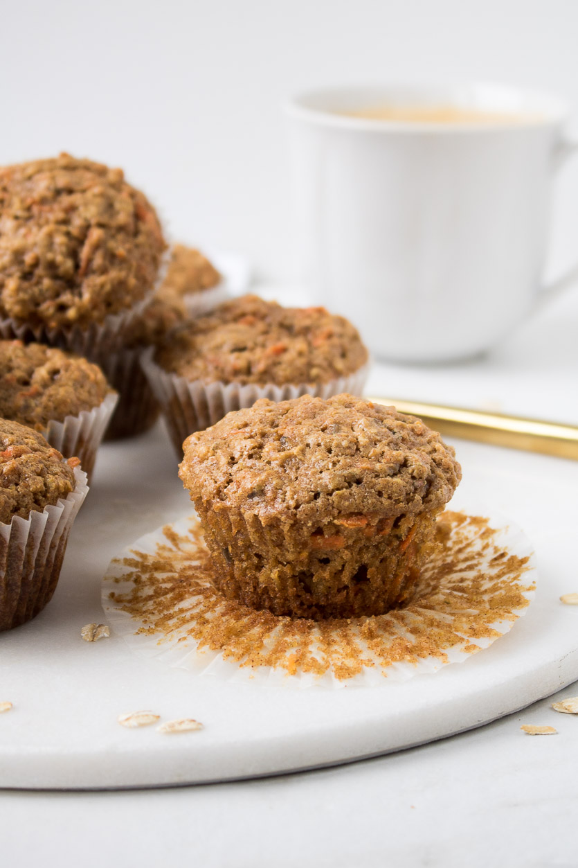 Easy Apple Carrot Muffins
